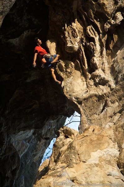 Climbing in the Archway