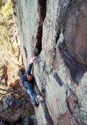 Rock Climbing Photo: This is a very fun route. Photo: Sarah Brengosz