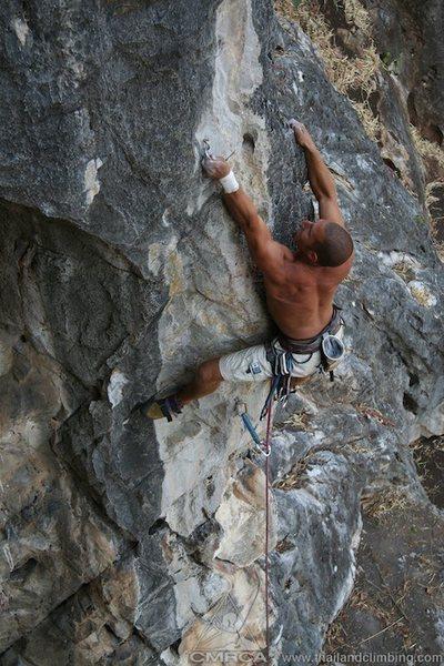 Climbing on Kee Gai