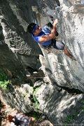 Rock Climbing Photo: Pulling through the pumpy crux on Ayah!