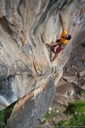 Rock Climbing Photo: Reaching on Bamboo Finders