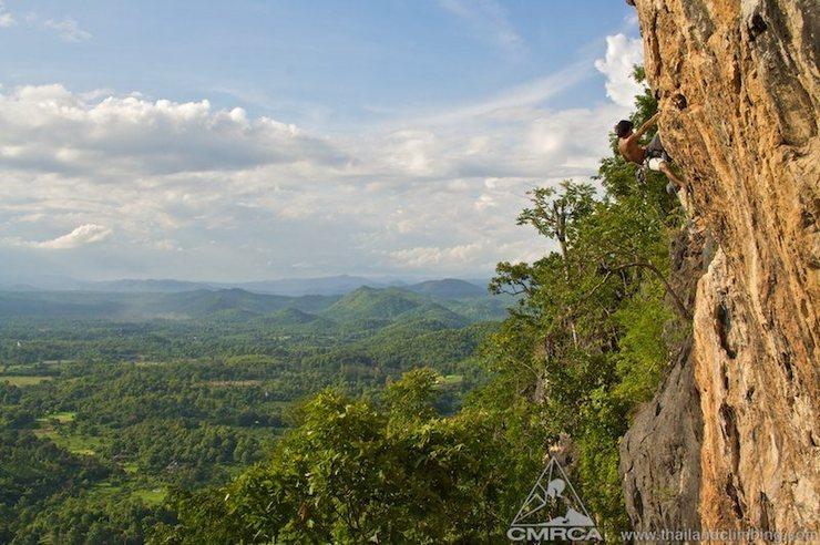 Rock Climbing Photo: Half height on Jai Glah Reu Blao