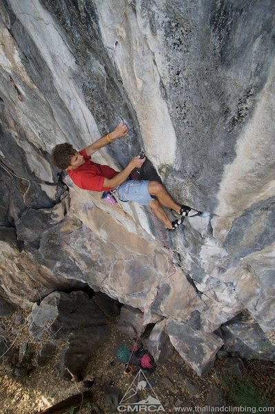 Rock Climbing Photo: Side pull clip on Song of Stone