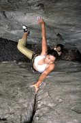Rock Climbing Photo: Classic chimney climb at Tamarind Village