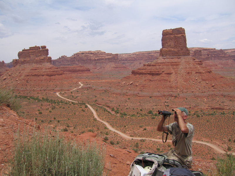 Rock Climbing Photo: Scoping new route on Putterman, Eagle Plume Tower ...