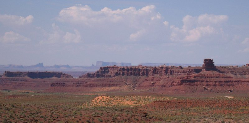 Oljato Monument Valley, Gooseneck SP (San Juan River) from Valley of the Gods