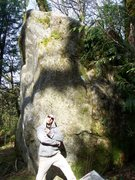 Rock Climbing Photo: Valliere posing with Choice Cherry