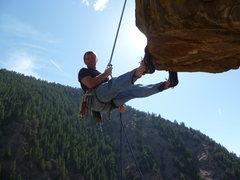 Rock Climbing Photo: Descending the Rebel Wall.