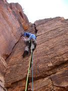 Rock Climbing Photo: Nathan Scherneck leading P1 of 'You and You'