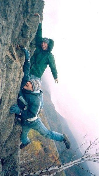 Rock Climbing Photo: Free soloing, Adirondacks, NY
