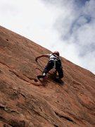 Rock Climbing Photo: Deb using the shorter person's right variation.