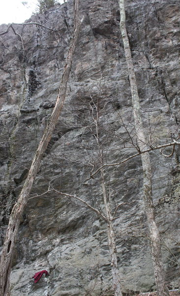 Rock Climbing Photo: first part of Left Sector
