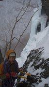 Rock Climbing Photo: Ice climbing, Smugglers' Notch, VT