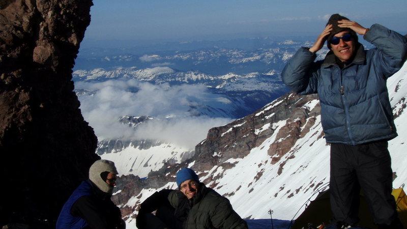 Alpine climbing, Liberty Ridge, Mt. Rainier, Wa
