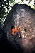 Rock Climbing Photo: Greg Jackson on 'Individual Medley' v6