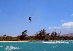 me on a 7 meter kite on Maui, wind 28-40