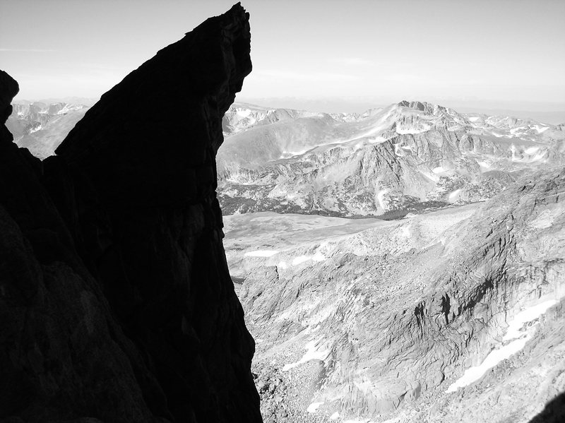 """Tsunami Rock,"" Keplinger's Couloir, Long's Peak."