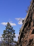 Rock Climbing Photo: JJ working across the slaberrific crux, up high on...