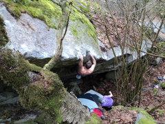 Rock Climbing Photo: Nate on the FA