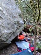 Rock Climbing Photo: Nate on the start.