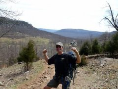 Rock Climbing Photo: Walking to crags, 1st visit to Horseshoe Canyon Ra...