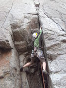 Rock Climbing Photo: me rocking through the sketch start of TR, psyched...