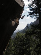 Andrew on the crux.
