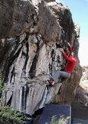 Rock Climbing Photo: David on Bare Bones