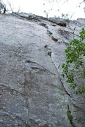 Rock Climbing Photo: Great Line.  Doesn't see as much traffic as it sho...