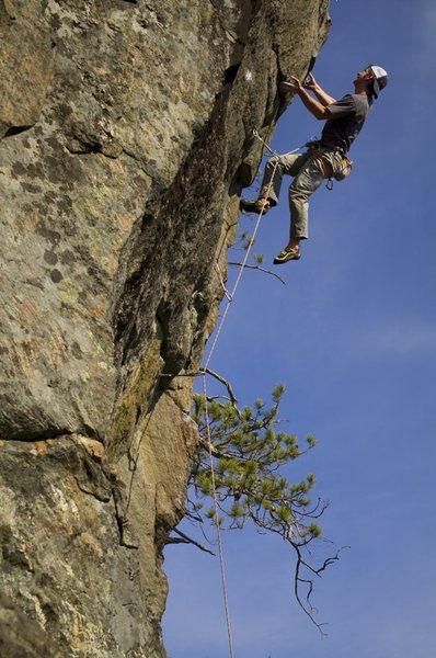 Rock Climbing Photo: Matt McCormick closing out the crux on Wild Blue Y...