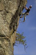 Rock Climbing Photo: Matt McCormick closing out the crux on Wild Blue Y...