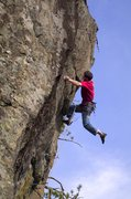 Rock Climbing Photo: Jay Conway displaying some fine footwork on Wild B...