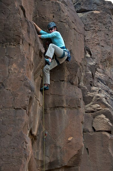 Rock Climbing Photo: Great moves in a nice dihedral.