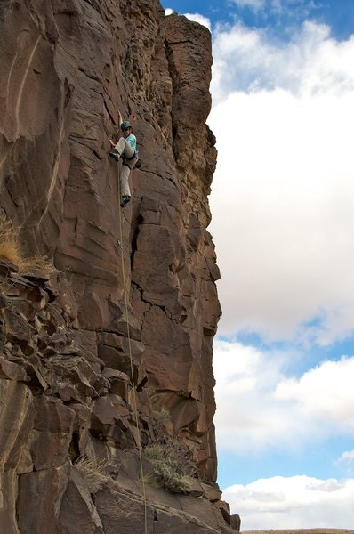 Rock Climbing Photo: Cool moves on a beautiful panel of rock.