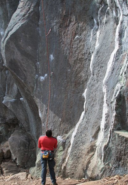Rock Climbing Photo: jon baldy belaying...