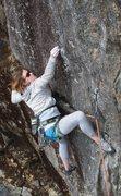 Rock Climbing Photo: Lily pinching down low...