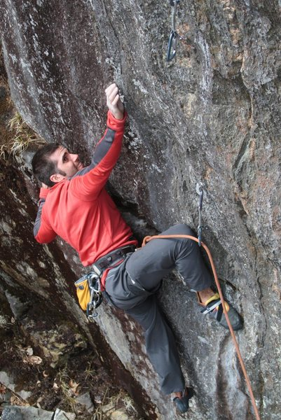 Rock Climbing Photo: Baldy, going for it...
