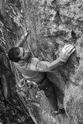 Rock Climbing Photo: Baldy just shy of the very interesting sidepull ne...