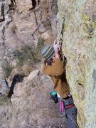 Rock Climbing Photo: After the crux...holds have broken on this one &qu...