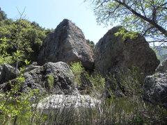 Rock Climbing Photo: Iceberg boulder area.