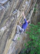 Rock Climbing Photo: JAG fires the crux throw