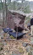 Rock Climbing Photo: South side of Purple Haze boulder. Left side is &q...