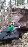 Rock Climbing Photo: John K. at on the start holds.