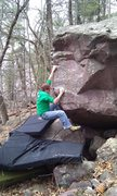 Rock Climbing Photo: making the throw to the sloper.