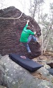 Rock Climbing Photo: moving off the sloper to nice big holds.