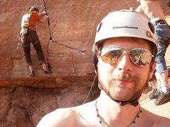 Rock Climbing Photo: my buddy welding my .3