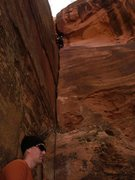 Rock Climbing Photo: nearing the top of the low agle part just about to...