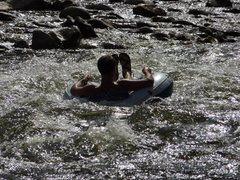 Rock Climbing Photo: floating down the river