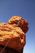 Rock Climbing Photo: Myself on Pitch 2 of Super..........  Starting the...