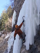 Rock Climbing Photo: Pullin' the ice.
